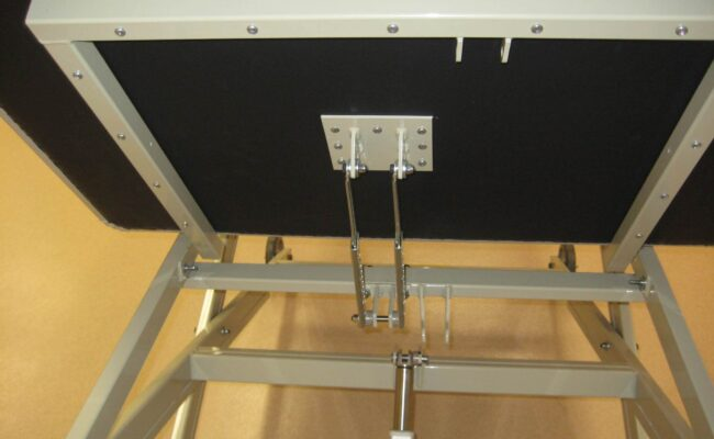 Back rest with mechanical support type DM